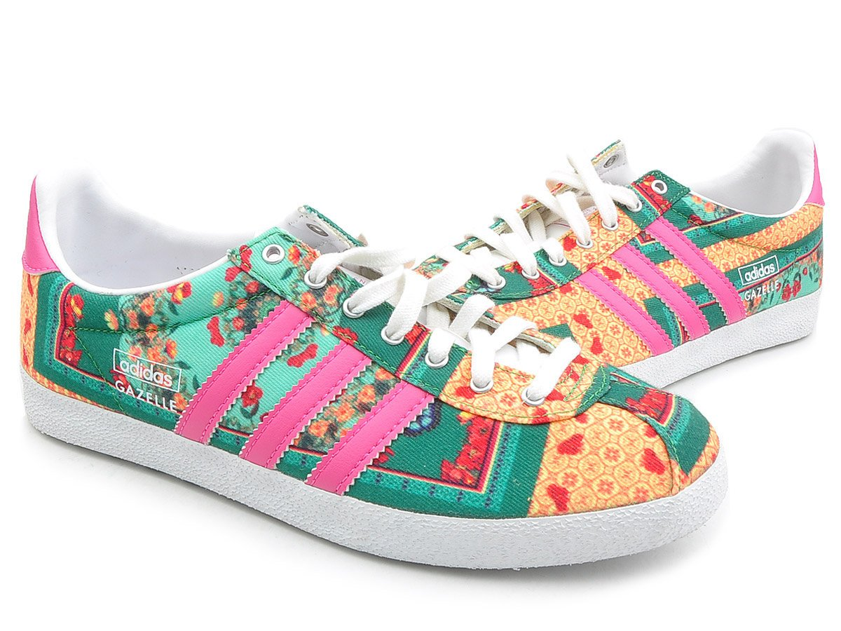 on sale 6545d 8636e adidas Womens Gazelle OG WC Farm Footwear - GreenPinkOrangeWhite, Size  6.5 Amazon.co.uk Sports  Outdoors
