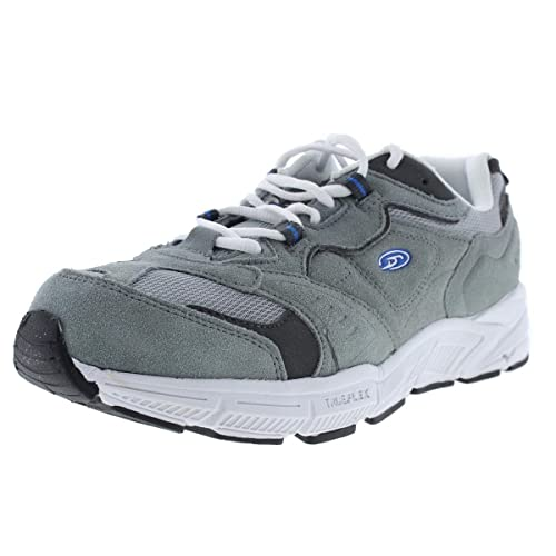 feaf6598259 Dr. Scholl's Mens Intel-MT Suede Athletic Walking Shoes Gray 8 Wide ...