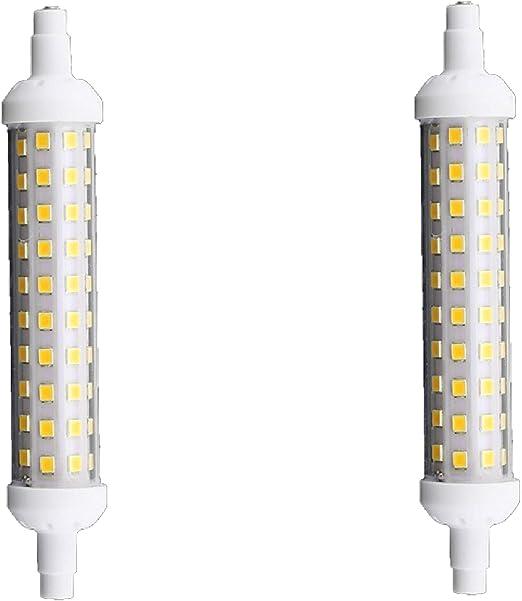 Bombilla LED R7S (longitud 118 mm)12V 6500K luz fría 9W pack 2 ...