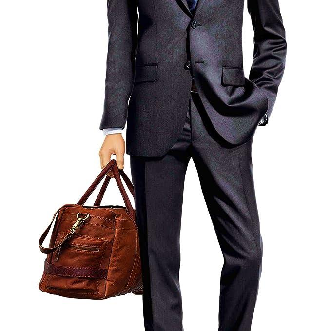 9dac7f0ff3 STILORD 'Travis' Borsone da viaggio in pelle da uomo Weekender Grande borsa  da viaggio a tracolla per lo sport di vero cuoio vintage,  Colore:cognac-marrone: ...