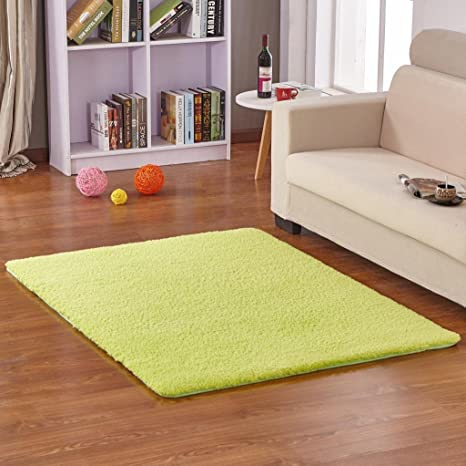 Amazon Com Hoomy Fluffy Floor Mats Apple Green Living Room Area