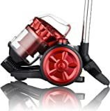 Dihl A Rated Cylinder Vacuum Cleaner, 2 Litre, 800 W, Black/Red