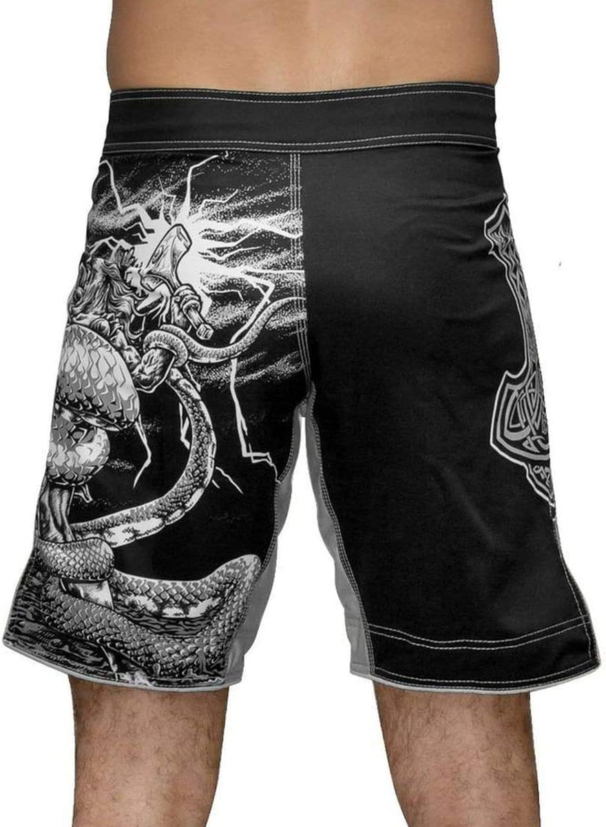 Raven Fightwear God of Egypt Anubis Fight Shorts Mens Combatti i Pantaloncini Uomo MMA BJJ Boxe Arti Marziali Fitness Grappling No Gi
