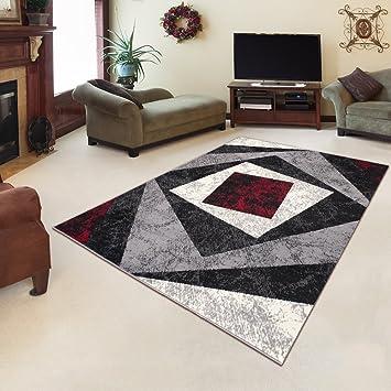 amazon.de: tapiso designer teppich wohnzimmer meliert vierecken ... - Wohnzimmer Grau Creme