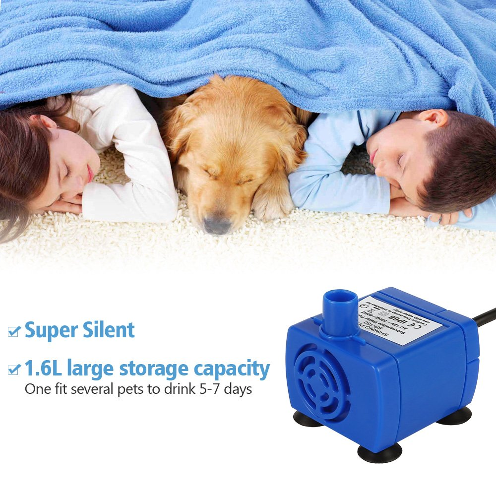 Hommii Pet Water Fountain Replacement Filters, Cat Dog Drinking Bowl, Flower Style, Automatic Electric, Water Capacity 1.6L