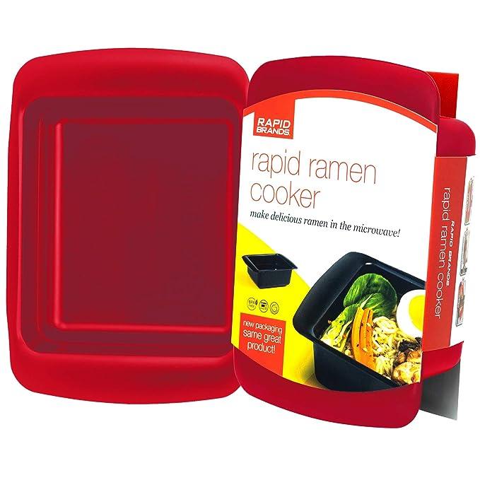 Bandeja para cocinar ramen rápido. Ramen al microondas en 3 ...