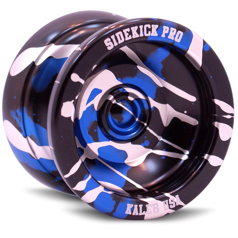 Sidekick Yoyo Pro Black Blue Silver Splashes Professional Aluminum UNresponsive YoYo by Sidekick Yoyo