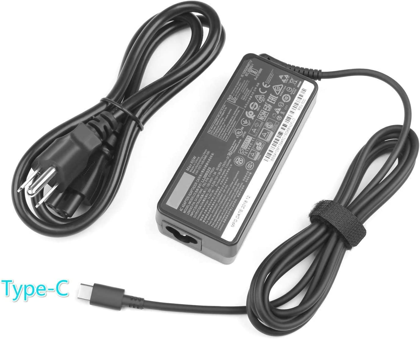 New AC Charger for Lenovo ThinkPad E580 E585 E590 E590S E595 20KS 20KV 20NB Laptop Power Supply Adapter Cord 65W USB C