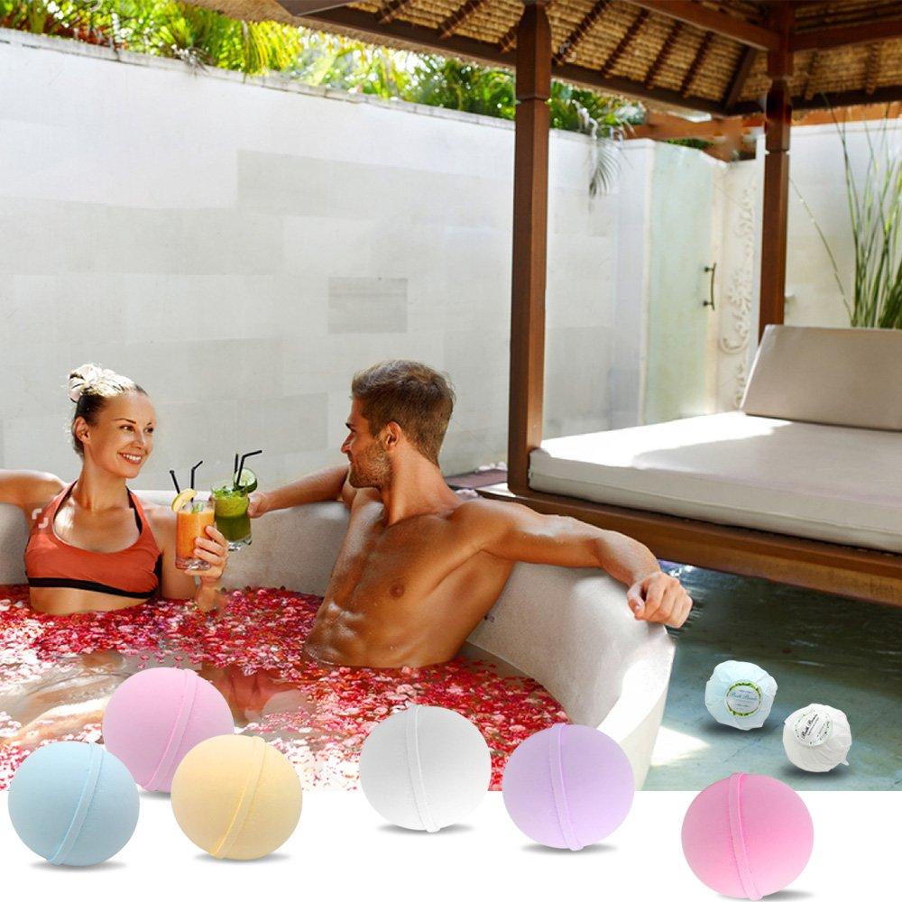 Bath Bombs Cosmetics,Gift Set of 12 Bath Bombs Ball Salts,Natural Handmade,Rich and Colorful,Gift Box