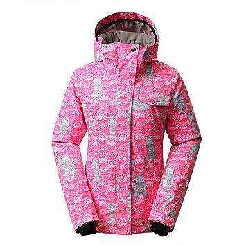 GSOU SNOW niña Capucha Padded - Chaqueta de esquí Niños Agua Viento Transpirable Outdoor Deportes de Invierno Nieve Snowboard Chaqueta Abrigo: Amazon.es: ...