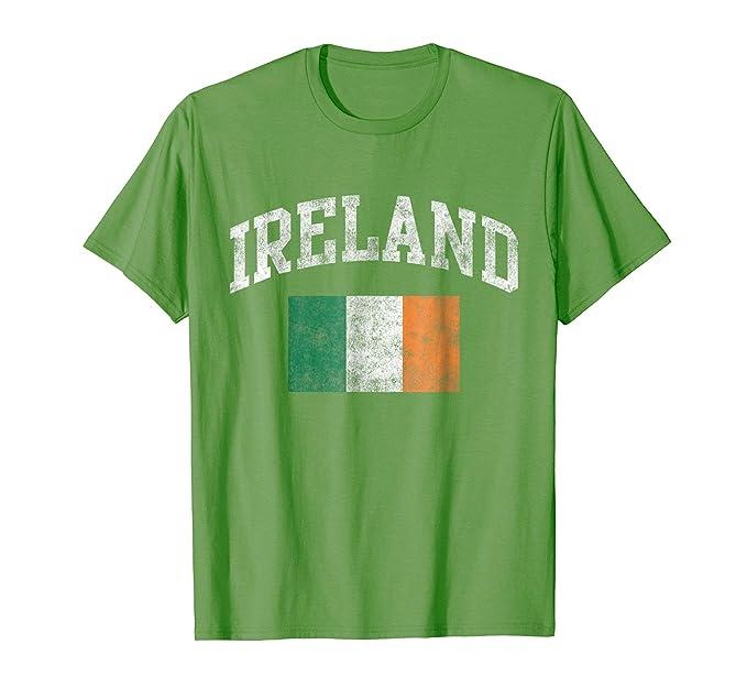 Amazon Com Vintage Ireland Irish Flag Green St Patrick S Day T