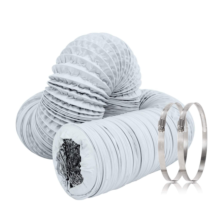 TUBO di scarico flessibile flessibile in alluminio 125mm 10m Asciugatrice cappa clima