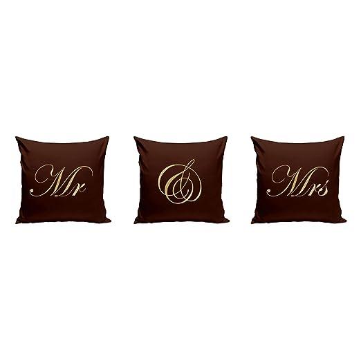 Shirtdepartment 3 x Decoración Cojín boda Mr. & Mrs con ...