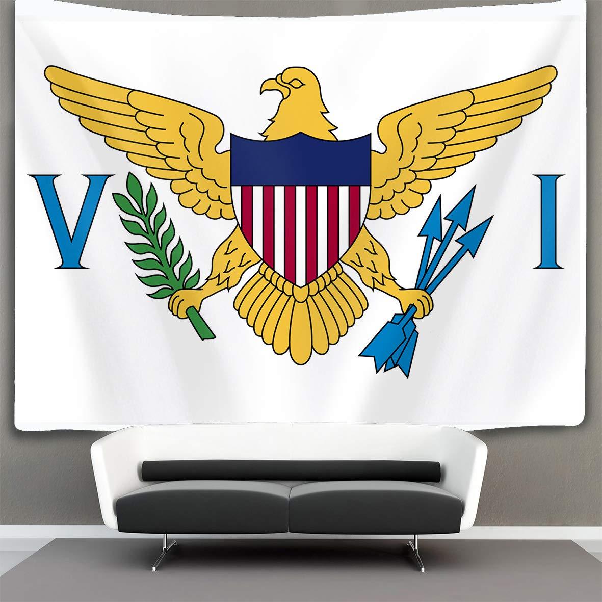 タペストリー 曼荼羅タペストリー 壁掛けタペストリー 壁タペストリー バージン諸島の旗 ウォールブランケット 壁装飾 ウォールアート ホームインテリア コラージュ 寮の装飾 60x90 inches ブラック PY3CRO5ZMQN-D6SF40S 60x90 inches Flag of Virgin Islands B07GNJLLW2