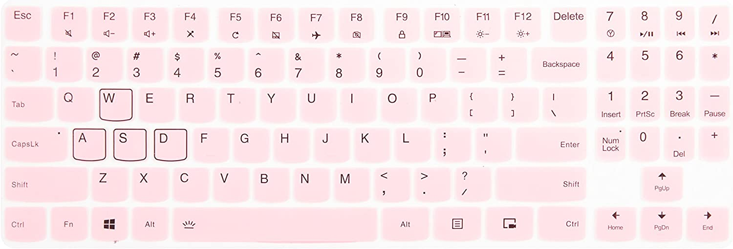 Leze - Ultra Thin Keyboard Cover for 15.6 Inch Lenovo Legion Y720 Y520 Gaming Laptop - Pink