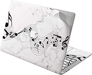 """Cavka Vinyl Decal Skin for Apple MacBook Pro 13"""" 2019 15"""" 2018 Air 13"""" 2020 Retina 2015 Mac 11"""" Mac 12"""" Simple Song Marble Protective Notes Music Print Black Laptop Cute White Sticker Design Cover"""