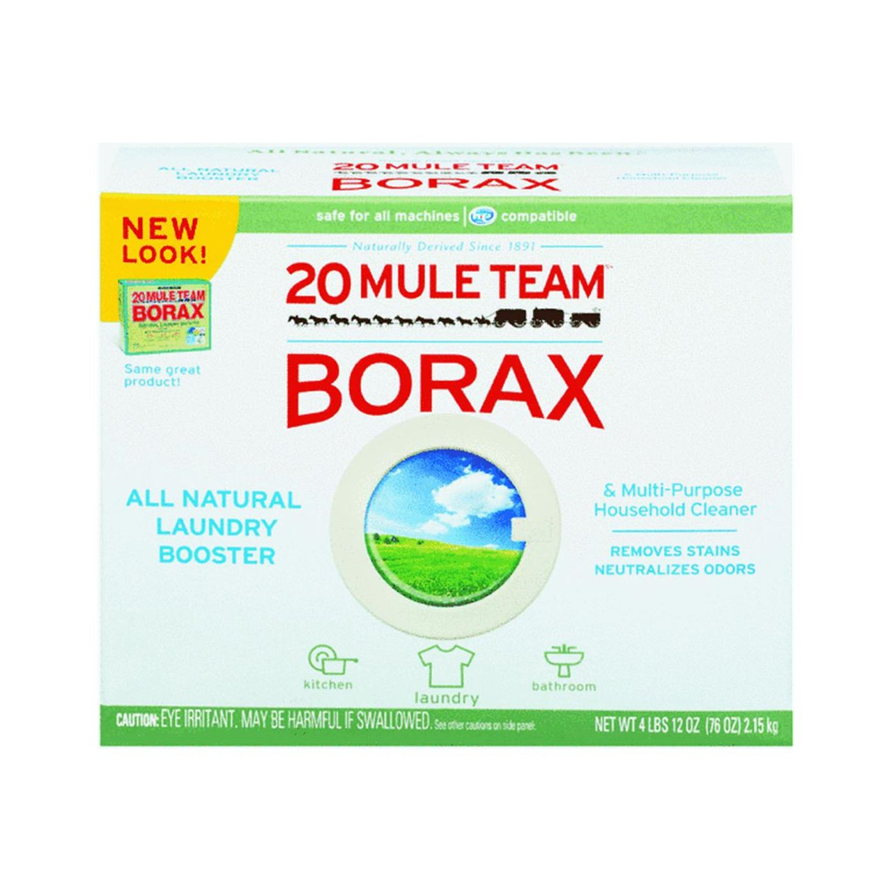 BORAX 20 Mule Team Laundry Booster, Powder, 4 Pounds