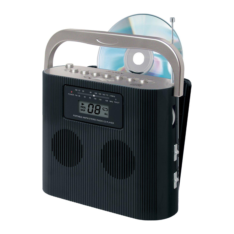 Portable jensen cd 470bk stereo compact disc player w am - Mobile porta cd ...