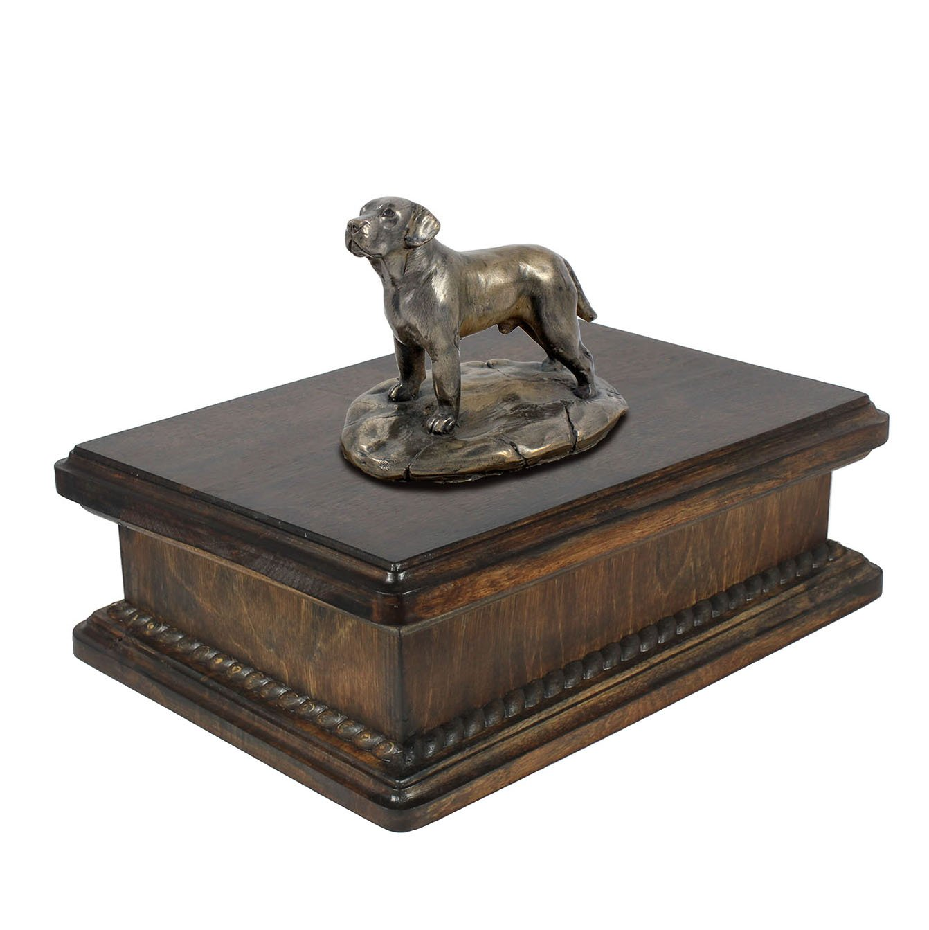 Labrador Retriever, memorial, urn for dog's ashes, with dog statue, exclusive, ArtDog