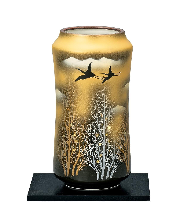 マルサン宮本 九谷焼 花器 8号花瓶 金雲木立 AP3-1024 B01HXQJWS4