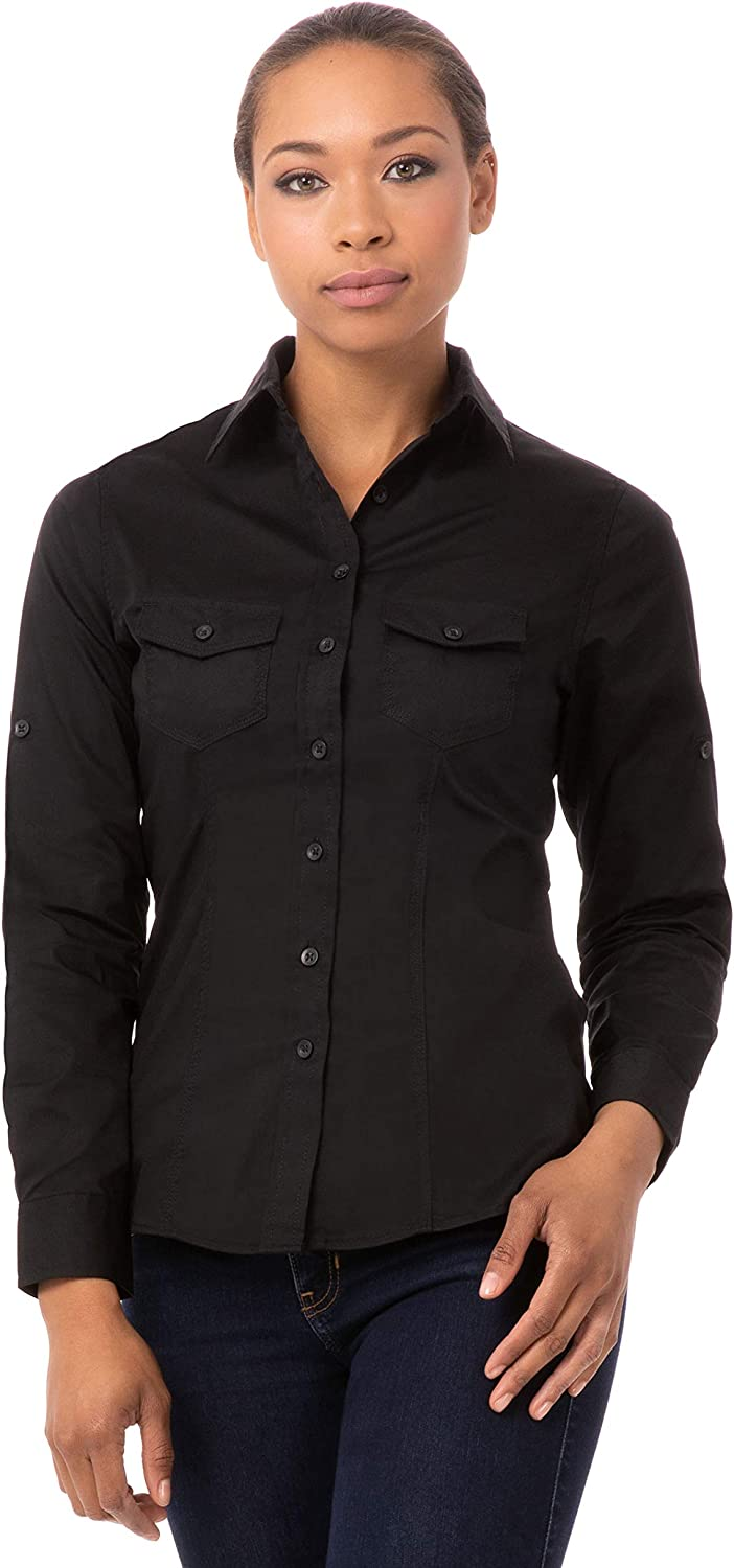 Chef Works Men's Double Pocket Shirt