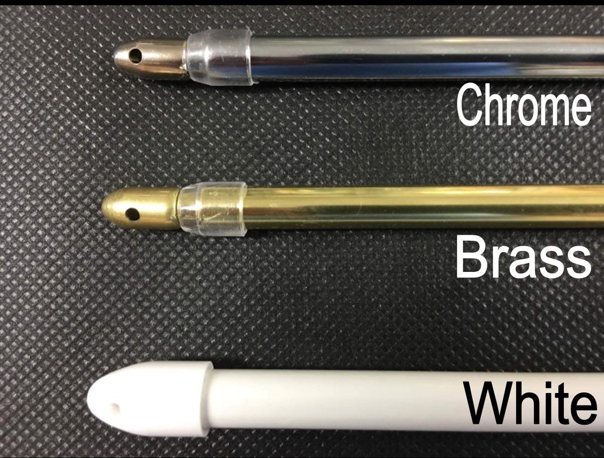extensible Super ronde extensible Chrome Barre Voilage Pole120filets–200cm (47–200, 7cm) à la maison 7cm) à la maison Ians Emporium