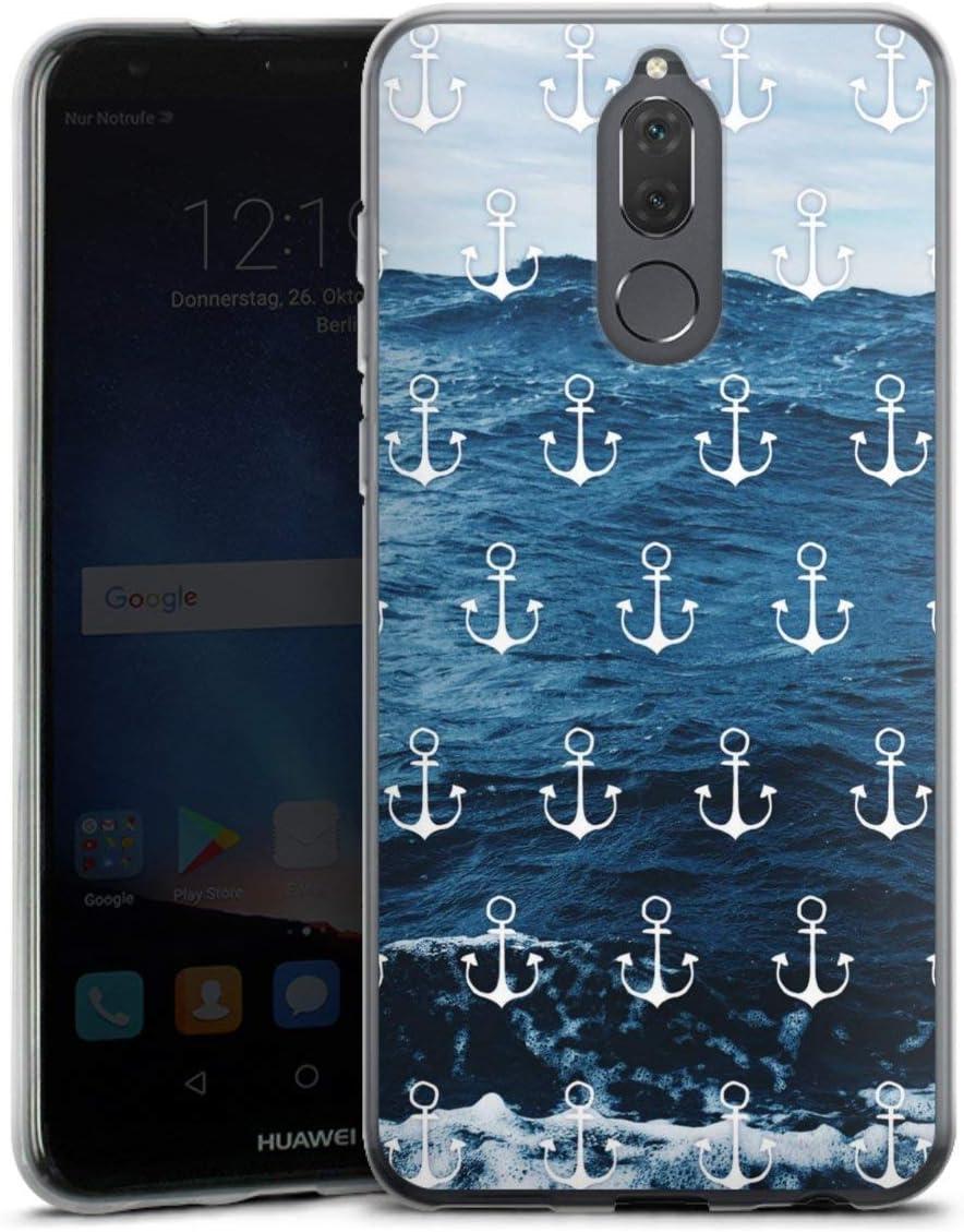DeinDesign Silikon H/ülle kompatibel mit Huawei Mate 10 Pro Case transparent Handyh/ülle Weltkarte Landkarte Kompass