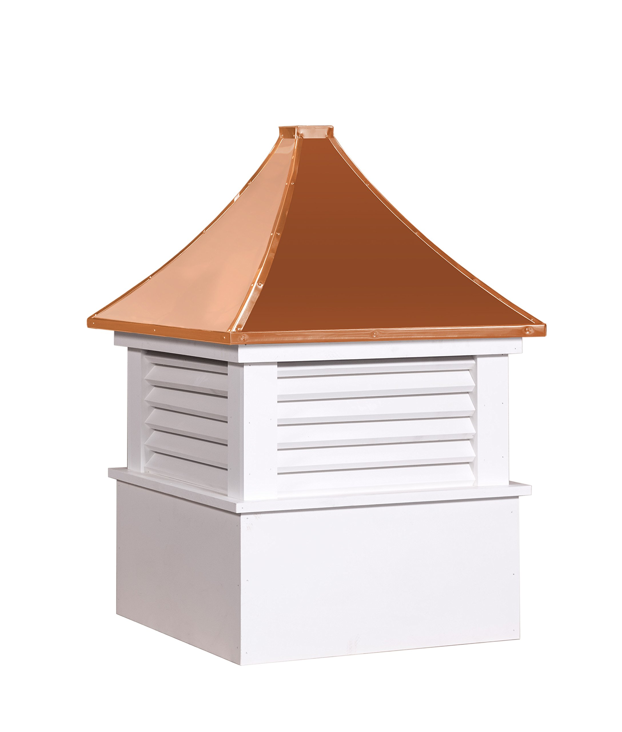 East Coast Weathervanes and Cupolas Vinyl Attleboro Cupola (Vinyl, 25 in square x 36 in tall) by East Coast Weathervanes and Cupolas