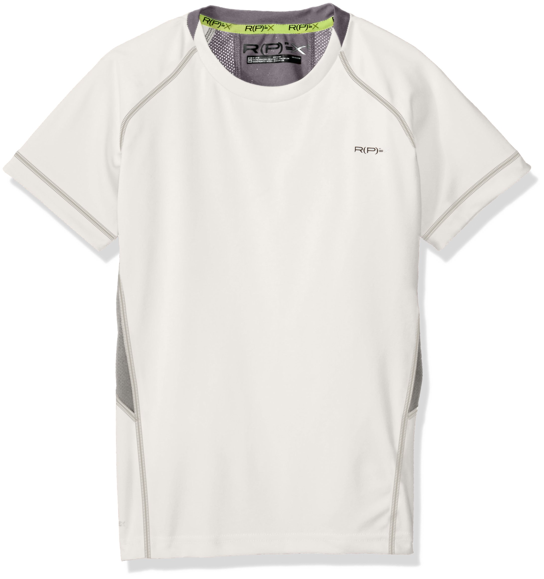 RPX Boys Slim Size Ss Training Shirt, White Large