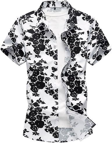 WanYangg Hombre Hawaianas Camisas Informales Manga Corta ...