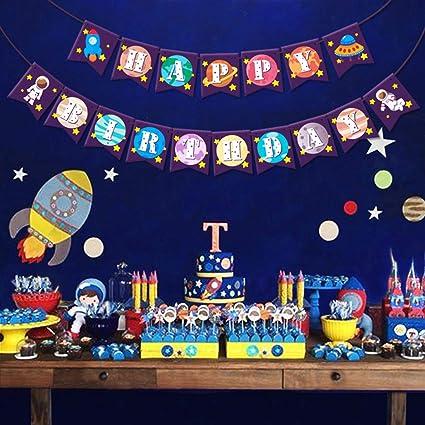 Festive & Party Supplies Outer Space Decoration Solar System Cartoon Balloon Boys Birthday Party Decor Baby Boy Favor Toy