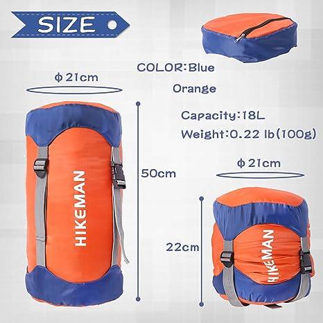 Waterproof Compression Stuff Sack Bag Camping Sleeping Bag Storage Package YMNNV