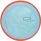 Chuckit! Paraflight Flyer Dog Frisbee for Long Distance Fetch Orange/Blue,Large