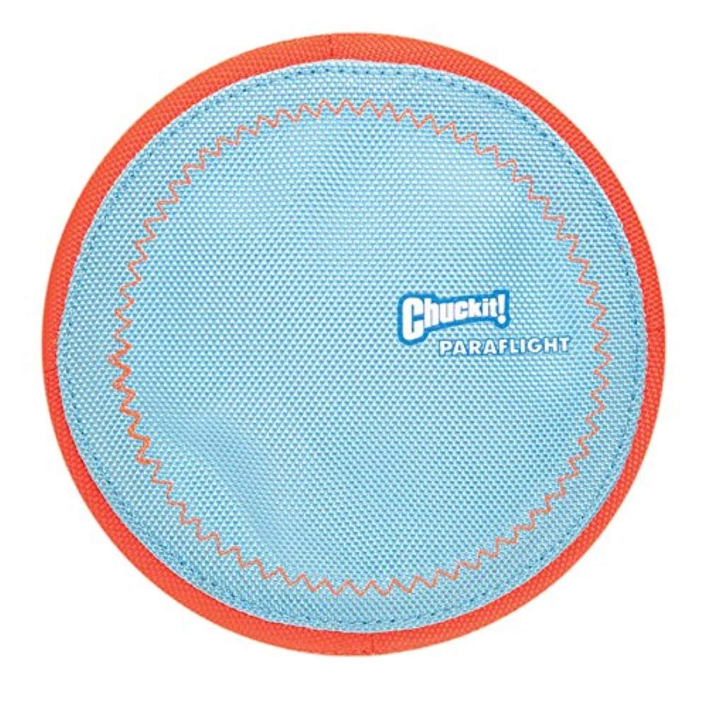 Chuckit! Paraflight Flyer Dog Frisbee for Long Distance Fetch Orange/Blue,Large
