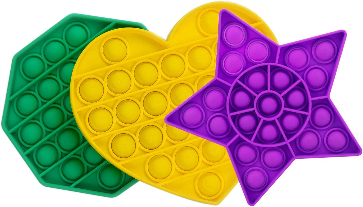 Feeke Silicone Bubble Sensory Fidget Toy, Push Stress Anxiety Irritability Reliever Tools, Autism Special Need, Sensory Squeeze Gift for Kids Toddlers Adults Teens Home School Office BPA Free