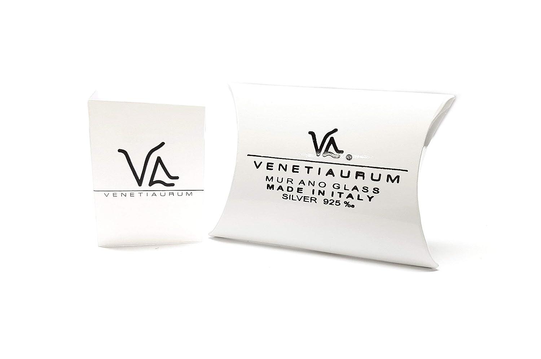 Charm aus original Muranoglas und 925er Silber Venetiaurum