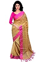Trendz Women's Cotton Silk Saree With Blouse Piece (Tz_Pink_Art_Pink)