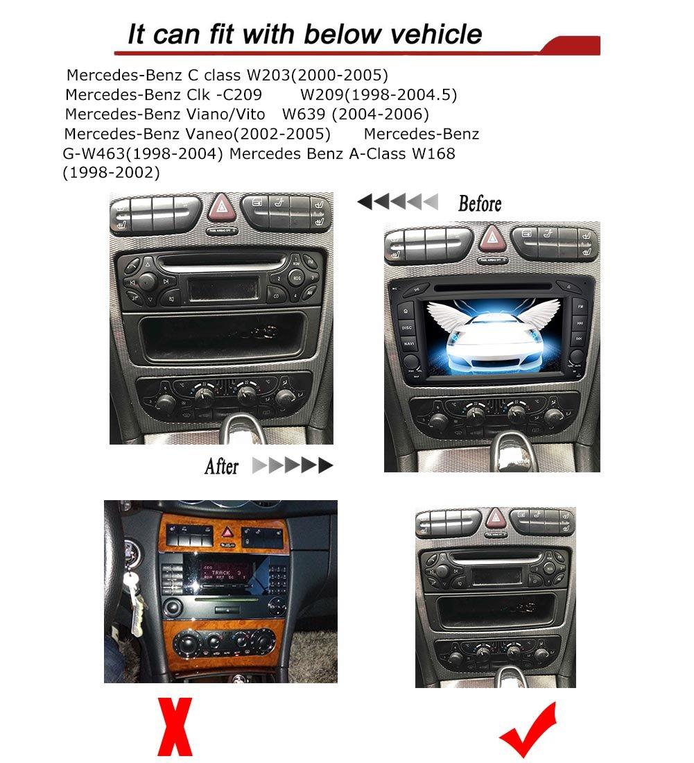 YINUO 7 Pulgadas 2 Din In Dash Pantalla Táctil Estéreo Reproductor De DVD Navegador GPS Radio De Coche Bluetooth Autoradio Para Mercedes-Benz C class ...