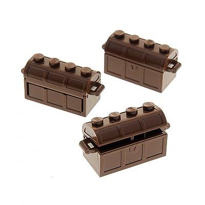 3coffres Coffre Marron pour Pirates Castle Ritter Lego A43