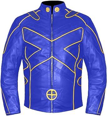 New Mens Hugh Jackman Black Biker Motorcycle Moto Shirt Real Leather Jacket