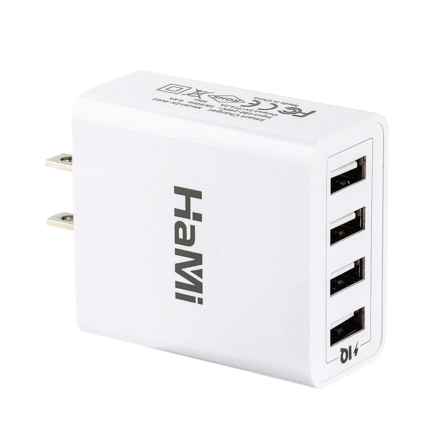 Hami Wall Charger 21W 4.2A 4-Port Usb Charger Power Adapter Travel Charger Ch.. 12