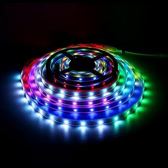 WS2812B LED Streifen WS2812 5m RGB Licht SMD 5050 Individuell Adressierbar DC5V