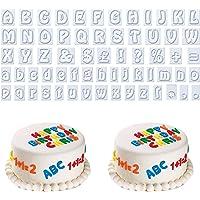 AvoDovA 64 Piezas Cortador Galletas Letras, Plástico Moldes de Galletas, Moldes Letras para Fondant, Moldes de Galletas…