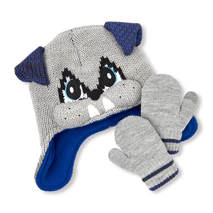 Amazon.com  The Children s Place Baby Boys Critter Hat and Mitten ... 11376c18822
