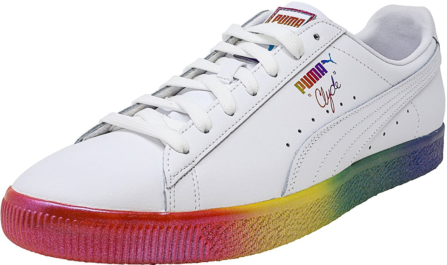 Puma Men's Clyde Prd White Ankle High Leather Fashion Sneaker 12M