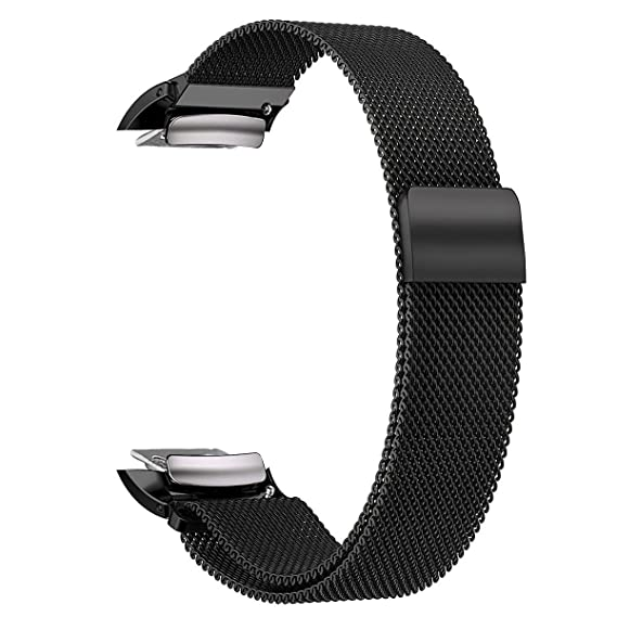 V-MORO Samsung Gear Fit 2 Watch Bands, Accessory Milanese Loop Stainless Steel Band with Unique Magnet Clasp for Samsung Gear Fit 2 Fit2 SM-R360 Smart ...