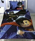 Lego Batman Superman Battle Single Panel Duvet Cover Polycotton Bed Set Reversible