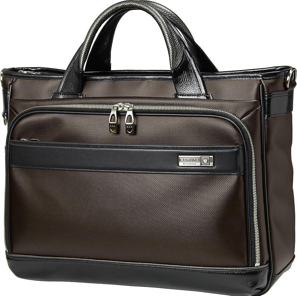 BERMAS バーマス M.I.J MADE IN JAPAN ビジネス 2way ビジネス トート ブリーフケース ショルダーバッグ B4 日本製 豊岡鞄 ブラウン 60037-BR   B01I38XX86