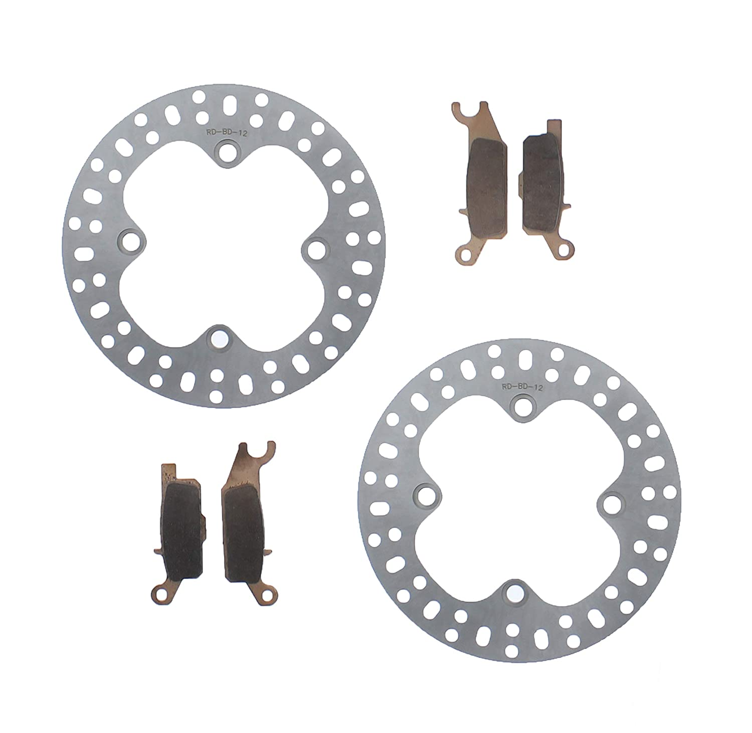 Race Driven Yamaha Rear Severe Duty Brake Pads & Brake Rotors Discs for ATV UTV Race-Driven