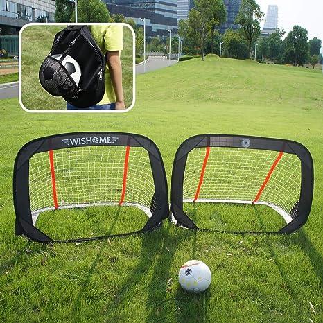 Kids Portable Folding Football Soccer Goal Training Net w// Carry Bag